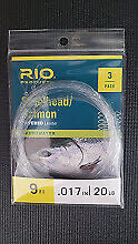 Rio Salmon Steelhead  Leader 3 pack 9FT Various Sizes