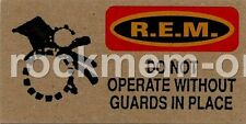 R.E.M. Fanclub card Do Not Operate Without Guards In Place