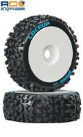 Duratrax Lockup 1/8 Buggy Tires C2 Mounted White (2) DTXC3615