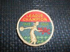 Old Vtg Women's Bowling Embroidered Patch WIBC League Champion 1963-1964 Badge