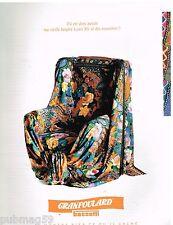 Publicité Advertising 1992 Le Tissu Granfoulard Bassetti
