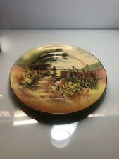 Royal Doulton 10.5 Decorative Plate Garden & Gate with Trees Hollyhocks