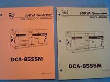 MQ Power DCA-85SSM  85KVA Generator Instruction & Parts Manuals