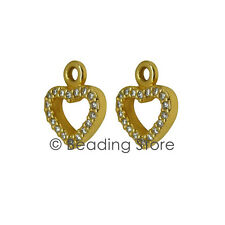 NEW Pandora Be My Valentine Gold Diamond Heart Compose Earrings Pendants 250433D