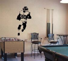 "Football Player Wide Receiver Vinyl Wall Sticker Decal 22""w x 48""h"