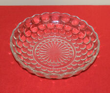 Vintage Clear Glass Bowl with Bubble Pattern 8 1/2 in.