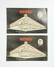 2 Vintage Jumbo Webb's City Florida Most Unusual Drug Store Advertising Postcard