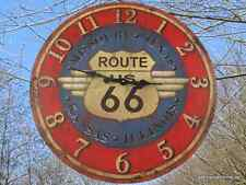 Montre Murale Fer D.60cm Route 66 Cadeau en Ancien Déco Vintage Horloge
