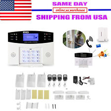Wireless Wired LCD GSM SMS Home House Alarm System Security Burglar Sensors EK