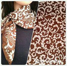 Satin Floral Vintage Scarves & Shawls