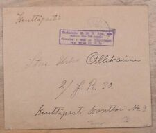 Mayfairstamps Finland Feldpost Kenttapostia Stampless Cover wwk60697