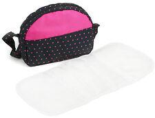 Bayer Chic 2000 Wickeltasche für Puppenwagen Dots navy pink Zubehör Set NEU