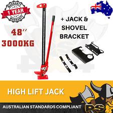 "3000 KG Hi Lift High Farm Jack 48"" inch Heavy Duty Recovery Lifter 4x4 4WD"
