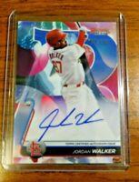 2020 Bowman's Best Jordan Walker Blue Refractor Auto 35/150 Cardinals Baseball