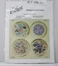 "New Esther's Floral Porcelain Box Lid Silk Ribbon Embroidery Kit ""Intertwine"""