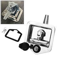 Folding T-Shaped Handle Lock Latch Toolbox Knob Lock for Trailer RV Caravan Car