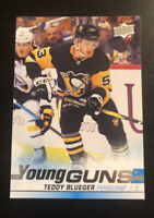 Teddy Blueger 2019-20 Upper Deck Hockey Young Guns #231 Penguins RC