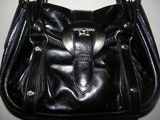 """FRANCESCO BIASIA""  Medium Black Calf Leather Satchel Bag"
