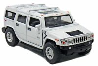 "5"" New Kinsmart 2008 Hummer H2 SUV 1:40 Diecast Toy Car Model Pull Action WHITE"