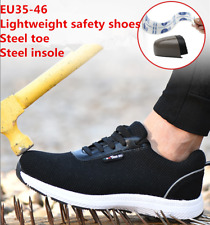 Men's Breathable Safety Shoes Steel Toe Anti Puncture Super Light Work Boots