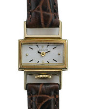 Vintage 40's Le Coultre - Vacheron 14k Gold Unusual Case  Ladies Watch VXN