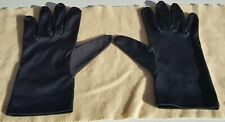 "Christian Dior (Cd) ~ Black Silky Gloves ~ 9"" Length ~ Size: M"