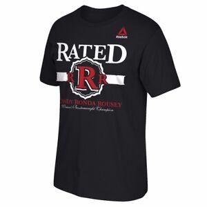 "Ronda Rousey UFC Reebok Men's Black ""Weigh In"" Graphic Print T-Shirt"