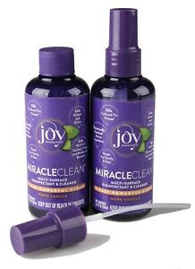 2x Joy Mangano MiracleClean Travel Size Disinfectant Cleaner Set Warm Vanilla
