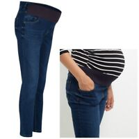 Maternity New Look Under the Bump Skinny Jeans Blue Sizes 10 12 14 16 18 20