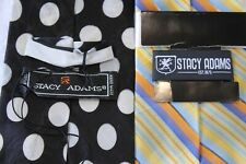 74) NEW LOT OF 2  STACY ADAMS  MEN'S   TIE 100% SILK MADE IN CHINA