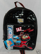 """NEW WITH TAGS LOONEY TUNES BLACK NASCAR KIDS TAZ BACKPACK 15"""" X 11""""X 3"""""""