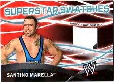 WWE Santino Marella Topps 2011 BW Superstar Swatches Event Used Shirt Relic Card