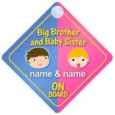 BIG BROTHER baby sorelle a bordo personalizzabile Auto Firmare