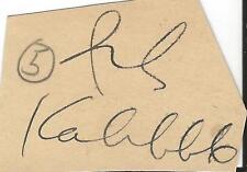 Ish Kabibble Signed Vintage Album Page