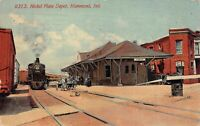 Postcard Nickel Plate Railroad Depot Station in Hammond, Indiana~126600