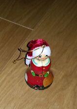 Weihnachtskugel / Christbaumschmuck / Baumschmuck Santa Claus / Glocke aus Holz