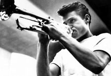 Chet Baker Poster, Playing Trumpet, West Coast Cool, Jazz