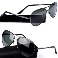 Polarized Mirrored Lens Sunglasses Mens Womens Retro Metal UV400 Pilot Eyewear