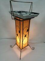 VTG BEAUCEWARE MCM ATOMIC FLOOR ASHTRAY SMOKING CIGAR ROOM LOUNGE WITH LAMP