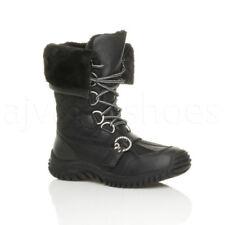 Scarpe da donna blocchetti stivali a metà polpaccio grigi