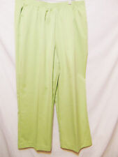 "ALFRED DUNNER 22W x L-27"" Plus Pants Slacks Mint Green Stretch/Elastic Waist"
