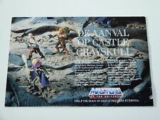 MOTU HE-MAN MASTERS OF THE UNIVERSE 1987 CATALOG FOLDER POSTER AANVAL OP ETERNIA