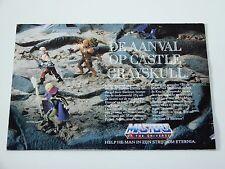 MOTU HE-MAN MASTERS OF THE UNIVERSE 1987 CATALOG FOLDER POSTER AANVAL OP ETERNIA