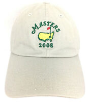 Masters Cap Augusta National Golf Hat Logo 2008 American Needle Baseball Beige