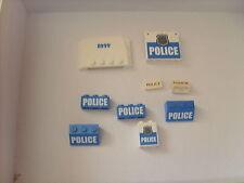 lot de pièces LEGO CITY: LOT D'ELEMENTS SPECIFIQUES POUR VEHICULE DE POLICE TBE