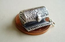 SUPER ' BUG IN A ROLLED UP RUG ' OPENING STERLING SILVER CHARM