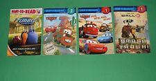 BOOKS Readers Disney Cars, Wall E, Turbo    LOT OF 4    #STPDD