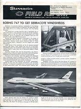 "1967 ""SIERRACIN"" Newsletter: SIERRACOTE Aviation Windshields, Apollo Visors +"