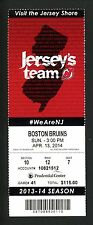 Martin Brodeur Last Devils Win #688 & Game Unused Ticket Devils Bruins 4/13/14
