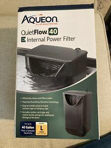 Aqueon Quiet Flow 40  E Internal Power Filter 40 Gallons New